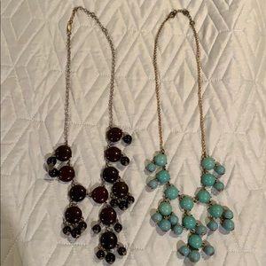 2 statement necklaces